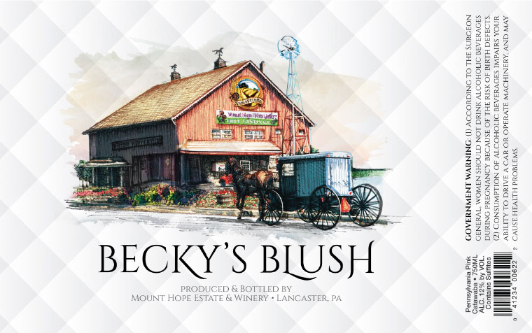 Mount Hope Becky's Blush Label