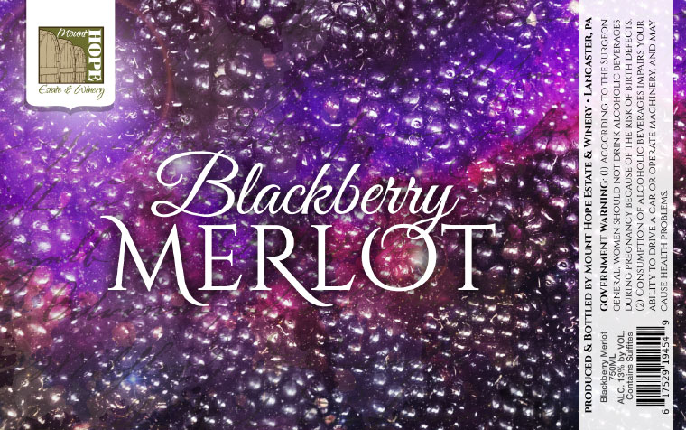 Mount Hope Blackberry Merlot Label