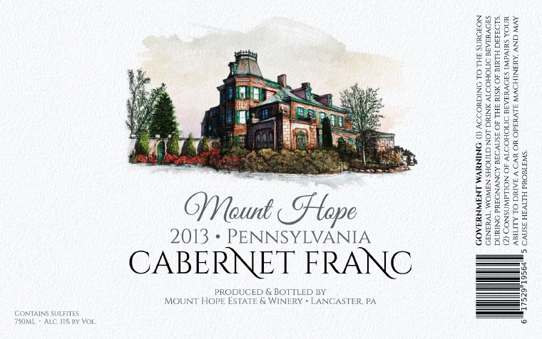 Mount Hope Cabernet Franc Label
