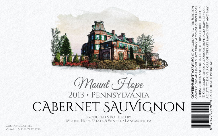 Mount Hope Cabernet Sauvignon Label