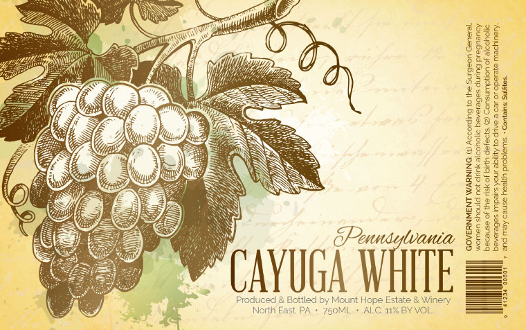 Mount Hope Cayuga Label