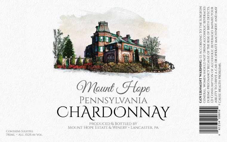 Mount Hope Chardonnay Label