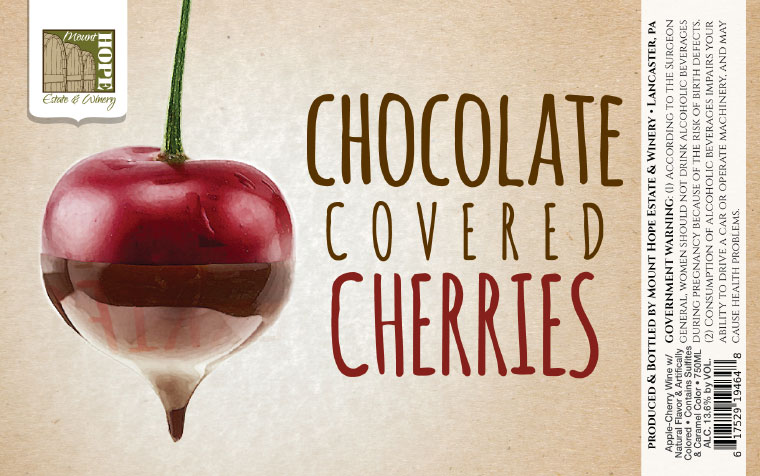 Mount Hope Chocolate Covered Cherries Label