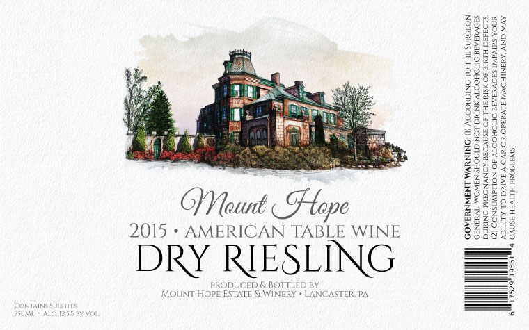 Mount Hope Dry Riesling Label
