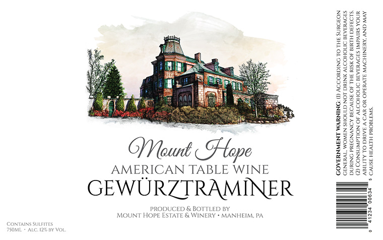 Mount Hope Gewurztraminer Label