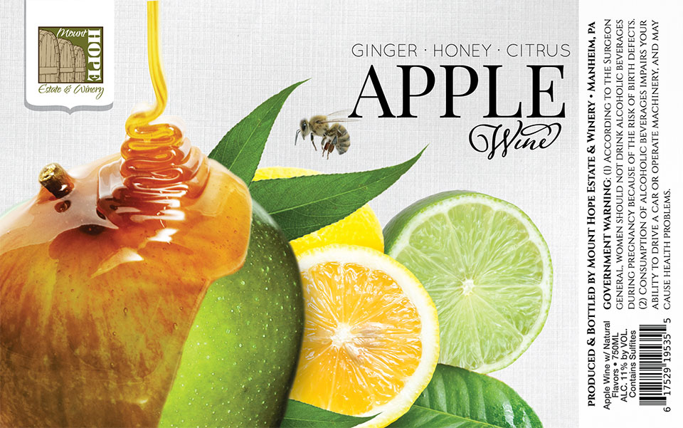 Ginger Honey Citrus Apple Wine Label