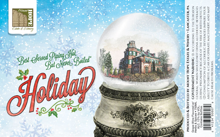 Mount Hope Holiday Label