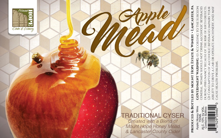 Mount Hope Apple Mead Label