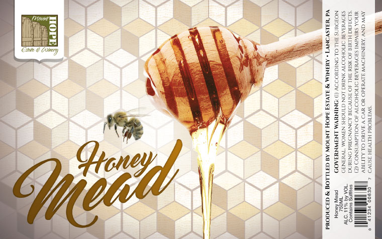 Mount Hope Honey Mead Label