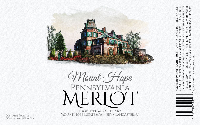 Mount Hope Merlot Label