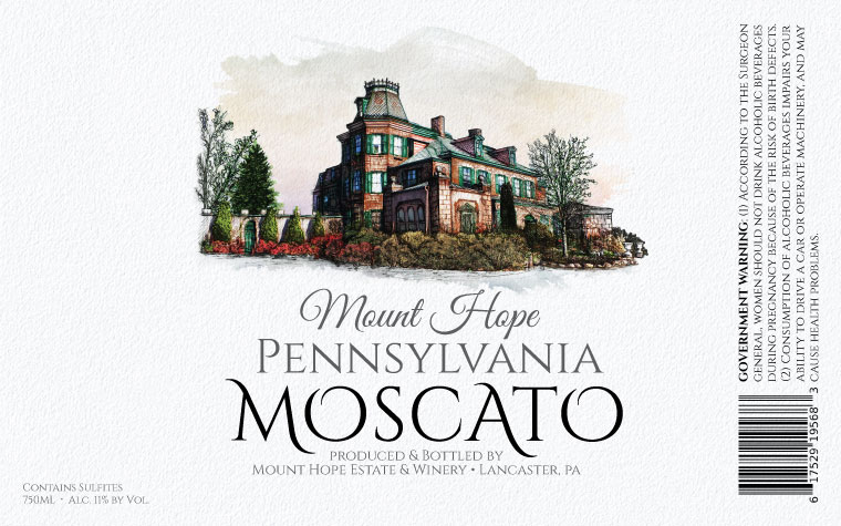 Mount Hope Moscato Label