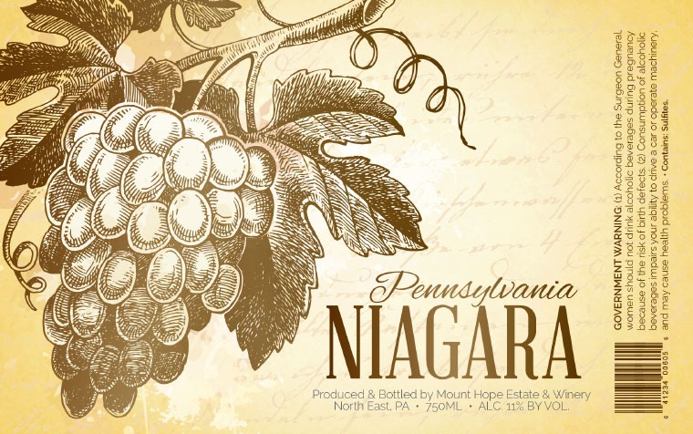 Mount Hope Niagara Label