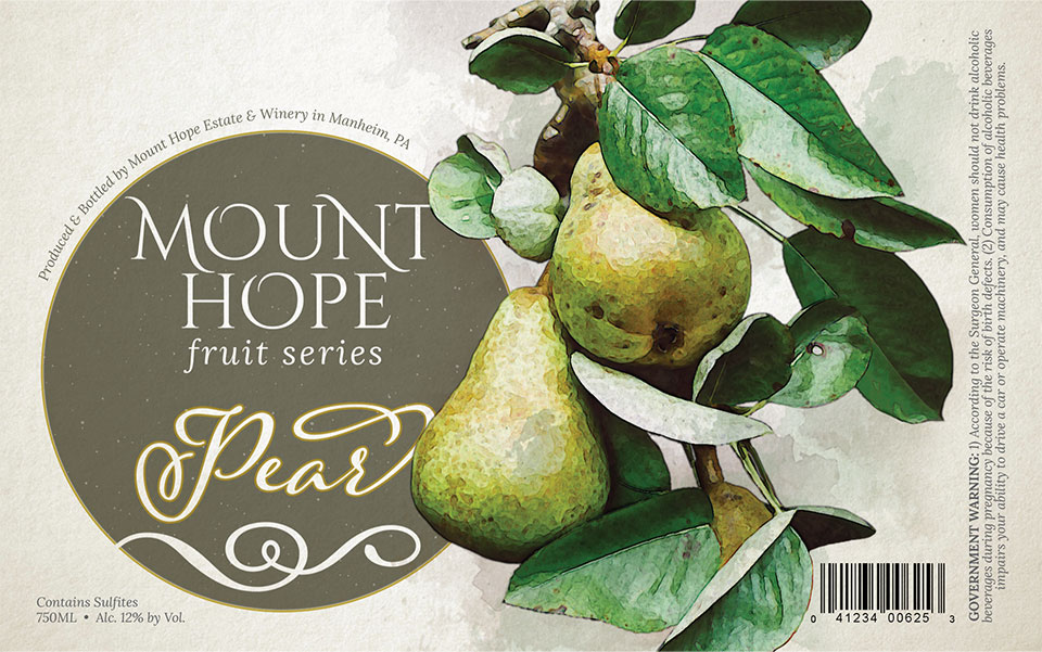 Pear Wine Label