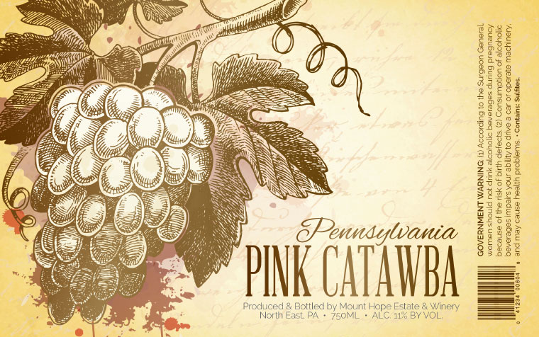 Mount Hope Pink Catawba Label
