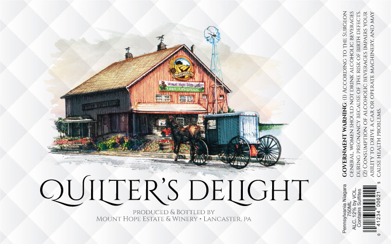 Mount Hope Quilter's Delight Label