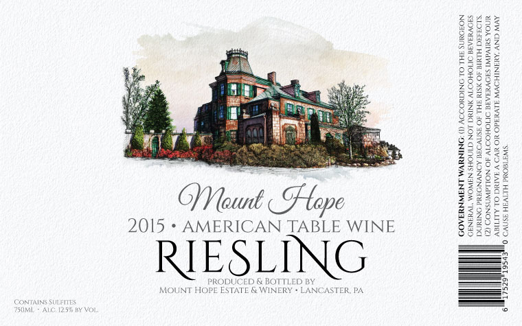 Mount Hope Riesling Label
