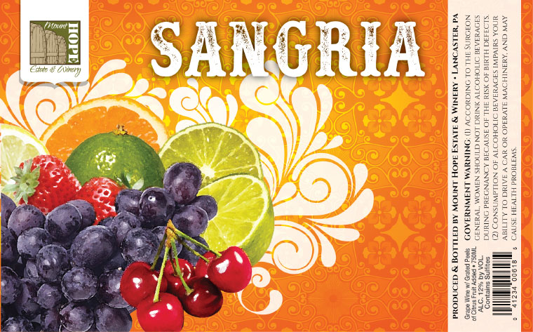 Mount Hope Sangria Label