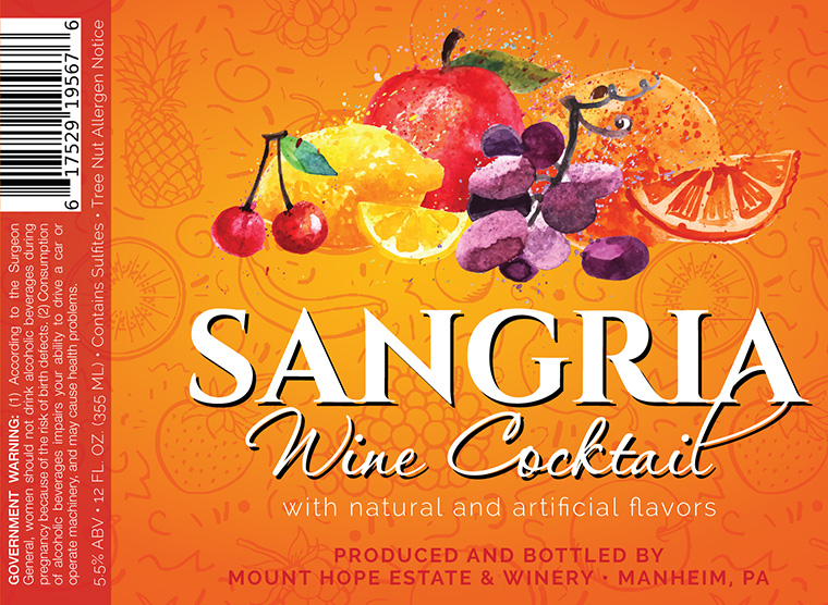 Mount Hope Sangria Punch Label