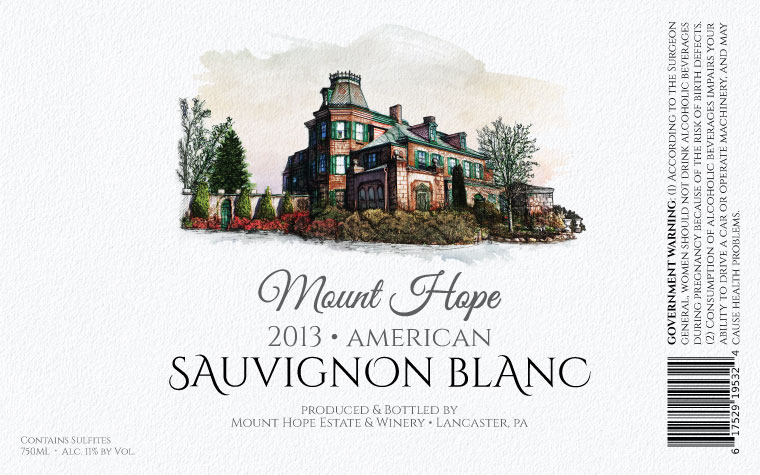 Mount Hope Sauvignon Blanc Label