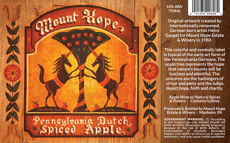 Mount Hope Spiced Apple Label