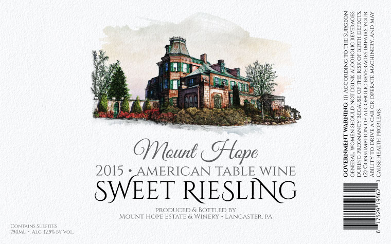 Mount Hope Sweet Riesling Label