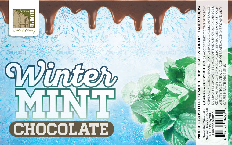 Mount Hope Winter Mint Chocoalte Label